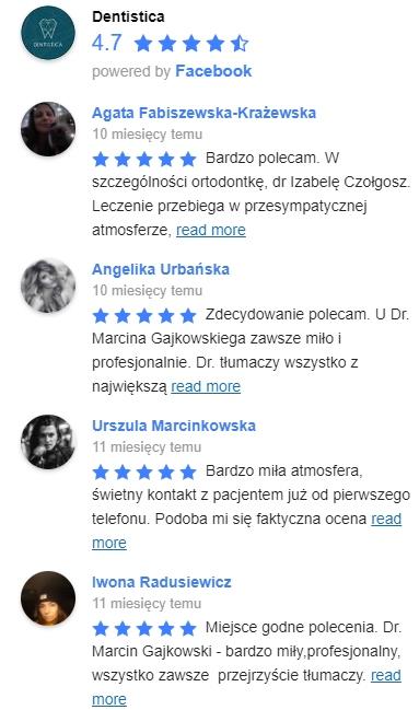 Opinie FB all2 - Lek. dent. Paulina Roszyk